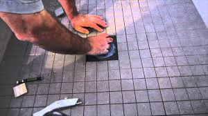 Shower Floor Mosaic Tiles by How To Install Ceramic Tile On A Shower Floor Youtube