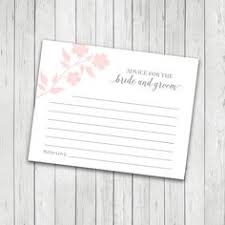 wedding advice cards template bridal shower game ideas