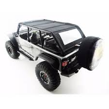 jeep black 4 door axial scx10 jeep 4 door soft top black orange rods by racing