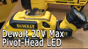 dewalt 20v area light dewalt 20v max dcl044 led worklight preview youtube