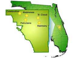 Florida County Map With Cities by General Information Concerning Osceola County
