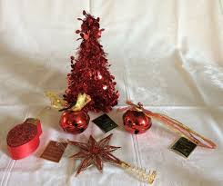 assorted decorative items tree topper two bells