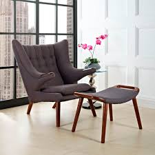 hans wegner style lounge chair u0026 ottoman