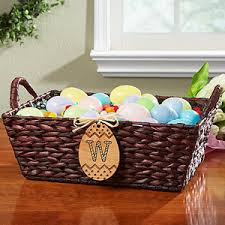 basket easter personalized wicker easter basket easter egg monogram easter gifts