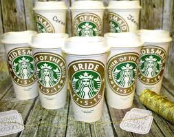 bridesmaid cups bridesmaid gifts starbucks coffee cup with personalized name
