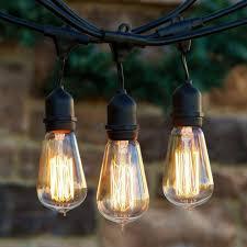 led edison string lights best outdoor light edison string lights outdoor solar string lights