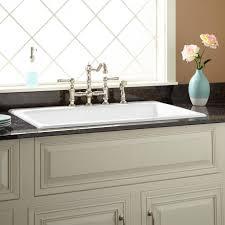 Drop In Farmhouse Kitchen Sinks 36 Frattina Cast Iron Drop In Kitchen Sink Kitchen