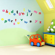 alphabet and numbers wall sticker pack educational nursery vinyl concept children s wall stickers nursery letters alphabet wall kids removable