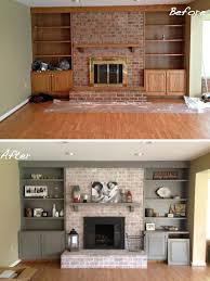 Diy Fireplace Cover Up Diy Fireplace Makeover Whitewash Old Brick Fireplace Paint Wood