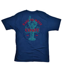 east to west cool tee navy coast apparel t shirt