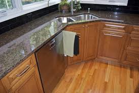 corner kitchen sink cabinet plans corner kitchen cabinet what to do to avoid awkward look on