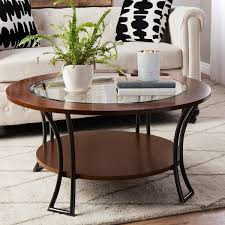 Round Coffee Table With Shelf Carlisle Walnut Charcoal Grey Round Coffee Table Free Shipping