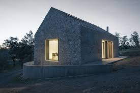 gallery a compact stone and concrete cottage in slovenia