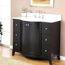 42 Inch Bathroom Cabinet 42 Vanity Cabinet Classic Single Wide Sink Console Gray Marble