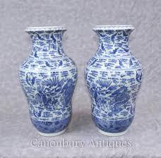 Chinese Blue And White Vase Blue And White Porcelain Nanking Kangxi Chinese Pottery