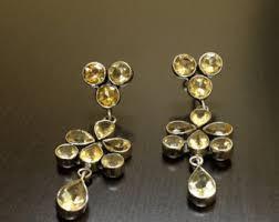 Citrine Chandelier Earrings Yellow Citrine Earrings Dangling Earrings Drop Earrings