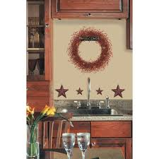 country rooster and chicken vinyl wall decal kitchen wall decal stars wall decals country kitchen stickers rustic decor ebay