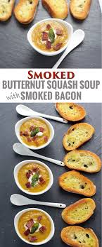 smoked butternut squash soup with smoked bacon vindulge