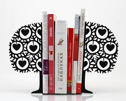 nuwzz minimalistic bookends danish heart tree free shipping