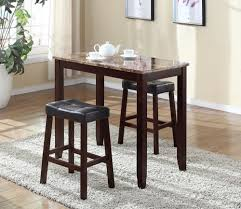 marble 3pc breakfast table counter height bar stools kitchen