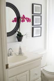 All White Bathroom Domestic Fashionista Adding Black Contrast To A White Bathroom