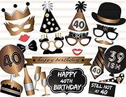 Photo Booth Accessories Amazon Com Losuya 40th Birthday Photo Booth Props 23pcs Funny