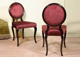beige fabric upholstered modern dining room chairs round back