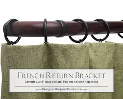 Curtain Rod Brackets 6 Inch Projection by Http Www Designerdraperyhardware Com French Return Curtain Rods