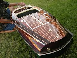 large model of the chris craft barrel back classic boat