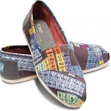 toms periodic table shoes periodic table women s vegan classics from toms clothes
