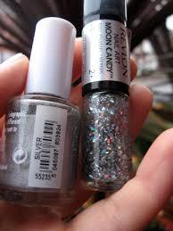 17 holo silver with revlon moon candy u0027milky way u0027 nail polishes