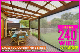 Clear Patio Roofing Materials by 240cm X 240cm Heavy Duty Pvc Clear Patio Cafe Blinds Outdoor Uv