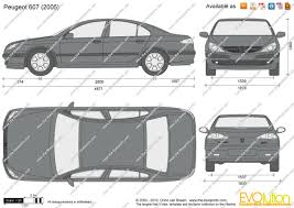 peugeot 607 the blueprints com vector drawing peugeot 607