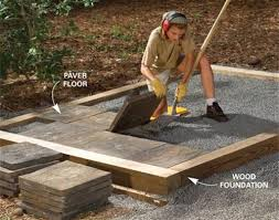 Patio Foundation Building A Storage Shed Foundation The New House Pinterest