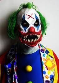 Halloween Clown Costumes Scary Image Etsy Halloween Clown Mask Scary Clown
