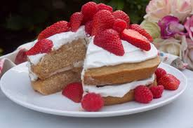 vanilla and strawberry cream cake rosanna davison nutrition