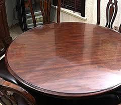 thick plastic table cover amazon com hiyoli soft glass pvc tablecloth round plastic table