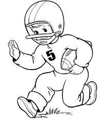 free football player coloring pages for kids coloringstar