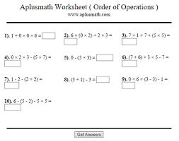 seventh grade interactive math skills order of operations