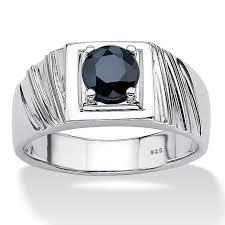 midnight blue wedding band men s 1 41 tcw midnight blue genuine sapphire sterling