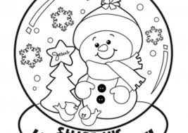 winter coloring pages coloring4free