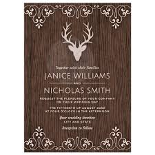 wood wedding invitations stag on wood wedding invitation
