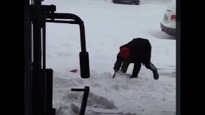 Shoveling Snow Meme - guy falling with a shovel meme with music youtube