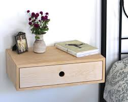 modern nightstand mid century modern floating bedside table