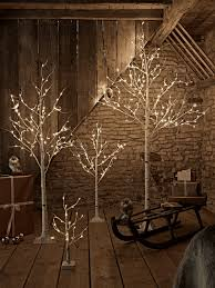 birch indoor outdoor light up trees