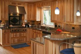 Kitchen Wooden Cabinets Inspiring Hickory Cabinets U Kitchen Bath Bathroom Pic Of Wood