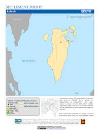 Map Of Bahrain Maps Global Rural Urban Mapping Project Grump V1 Sedac