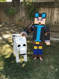 Minecraft Villager Halloween Costume 14 Dantdm Halloween Costume Images Minecraft