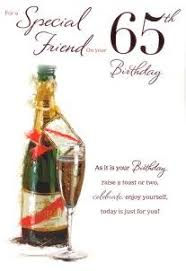 for a special friend 65th birthday card male 2086 amazon co uk