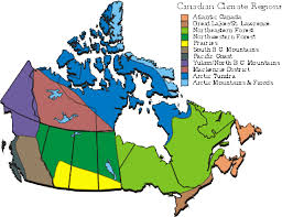 regions of canada map canada thematic map